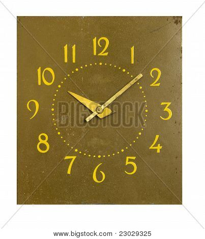 Isolated On White  Clock-face