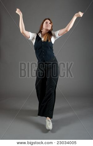 Caucasian Female Jazz Dancer