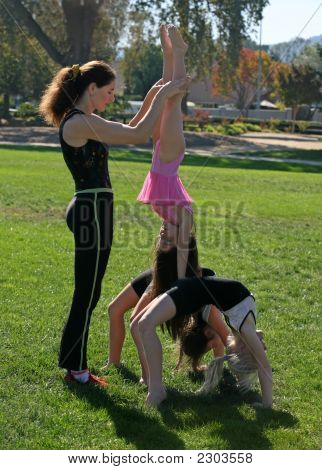 Gymnasts In The Park