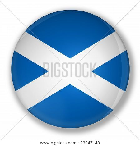 Badge With Flag Of Scotland
