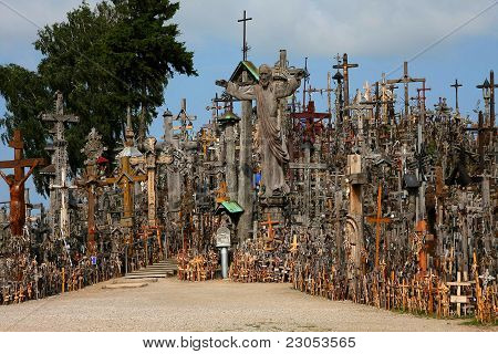 Mount Of Crosses In Lithuania