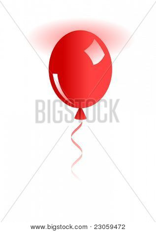 Illustration of  red ballon isolated on white