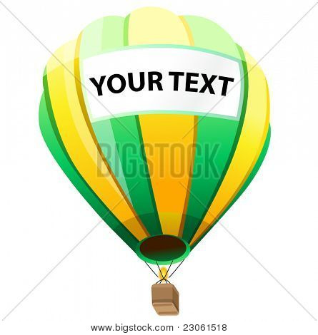 Hot Air Balloon with your text
