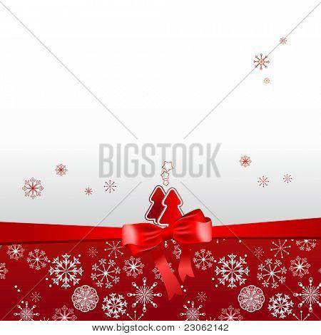 Beautiful Christmas red postal