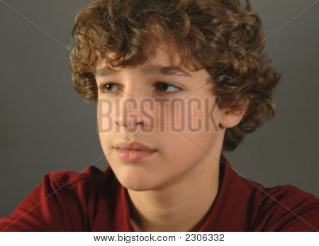 Portrait Of Adolescent Boy