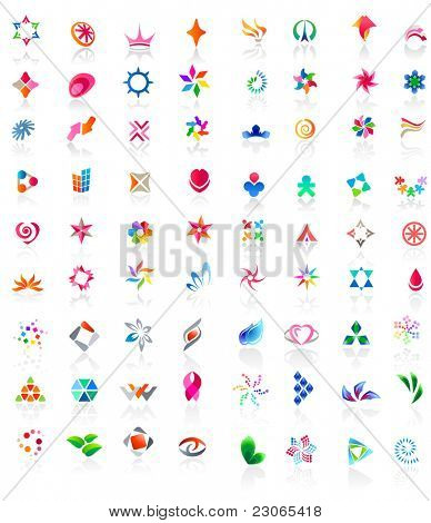 72 different colorful icons: (set 2). Raster version. Vector version is in my gallery.