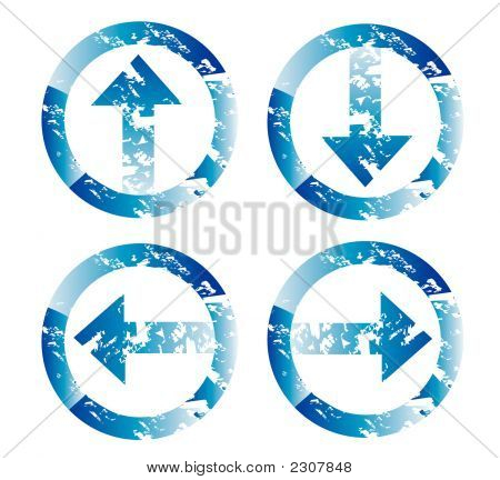 Grunge Blue Arrows