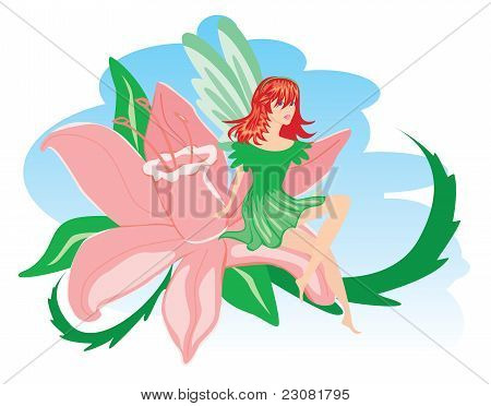 Elf With Pink Flower