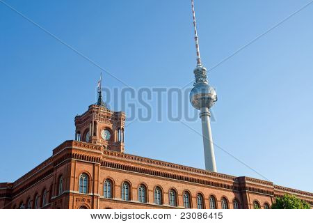 Townhall and the television tower