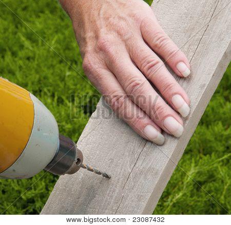 Board, Drill, Female Hand