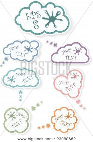 Clouds in a cage, vector illustration