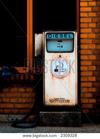 Retro Diesel Gas Station