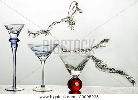 3 glass splash