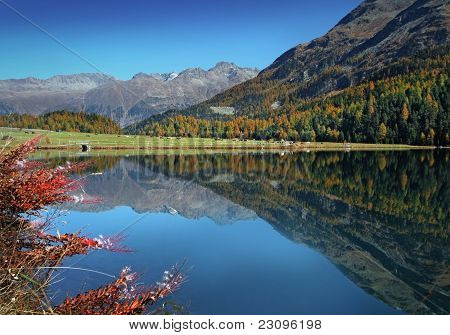 Swiss autumn lake
