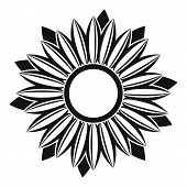 Ripe Sunflower Icon. Simple Illustration Of Ripe Sunflower Vector Icon For Web poster