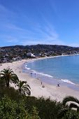 Laguna Beach California - Main Beach. View of Lagunas World Famous Main Beach as seen from the Look poster
