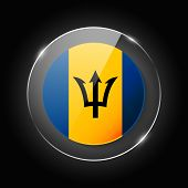 Barbados National Flag. Application Language Symbol. Country Of Manufacture Icon. Round Glossy Isola poster