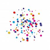 Festive Circular Colorful Confetti Background Abstract Background With Confetti poster