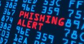 Cyber Security Buzzwords - Phishing Alert - With Blue Numbers In Background. Data Safety And Digital poster