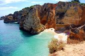 picture of vilamoura  - Cliffs at the Dona Ana beach Algarve coast in Portugal - JPG