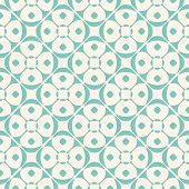 Vector Geometric Ornament Pattern With Rounded Shapes, Floral Silhouettes, Circles, Diagonal Grid. O poster