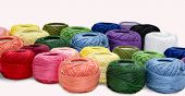 Silk Thread Is Available In Various Colors, Available In Handicrafts Or Decorative Items Or Fabrics. poster