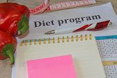 Measure Tape And Fresh Fruit In The Background. Healthy Lifestyle Diet With Fresh Fruits. Fruit Diet poster