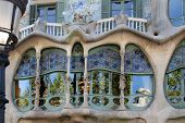 Glass of Casa Batllo by Gaudi - Barcelona