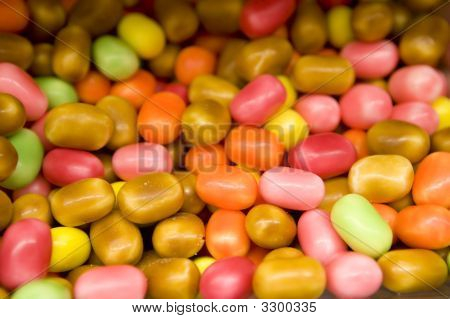 Multi-Colored Sweet Food