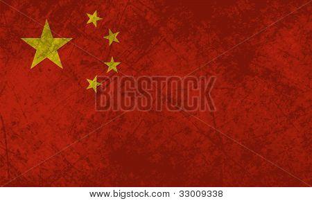 Chinese Flag Grunge