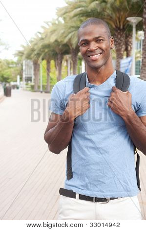 Young African American College Student