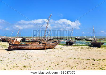 Boat in Zanzibar in a sunny day, Tanzania