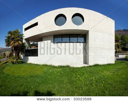 Modern house in beton