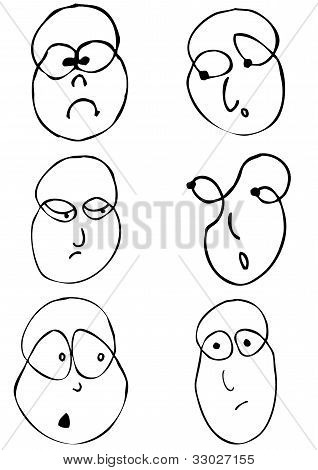 faces with emotion