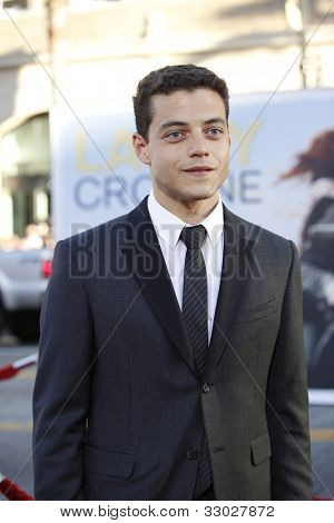 LOS ANGELES - JUNE 27: Rami Malek arrives at the Premiere of Universal Pictures' 'Larry Crowne' at Grauman's Chinese Theatre on June 27, 2011 in Los Angeles, California