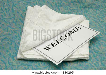 Willkommen Handtuch
