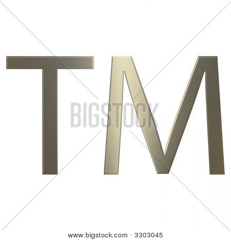 3D Gold Trademark