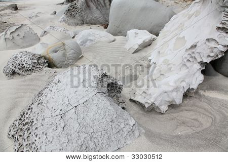 Rock Eroded By Sand-blasting