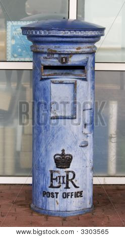 Blue British Mail Box