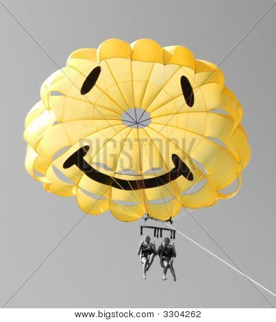 Happy Parasailing