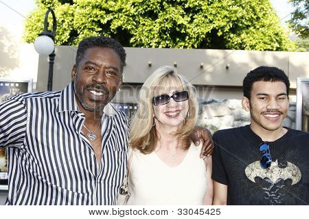 LOS ANGELES, CA - JULY 06:  Ernie Hudson; family at the premiere of 'The Zookeeper' at the Regency Village Theatre on July 6, 2011 in Los Angeles, California