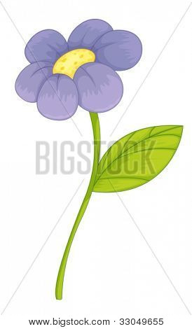 Illustration of a purple flower