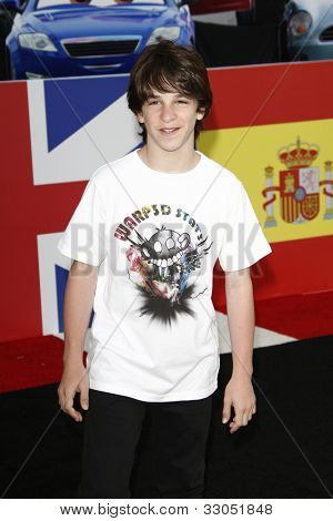 LOS ANGELES - JUNE 18: Zachary Gordon at the Premiere of Walt Disney Pictures' 'Cars 2' at the El Capitan Theatre in Los Angeles, California on June 18, 2011.
