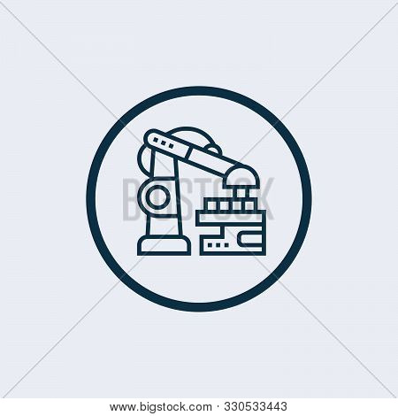 poster of Robotic Arm Icon Isolated On White Background. Robotic Arm Icon In Trendy Design Style. Robotic Arm