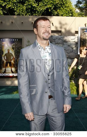 LOS ANGELES, CA - JULY 06:  Donnie Wahlberg at the premiere of 'The Zookeeper' at the Regency Village Theatre on July 6, 2011 in Los Angeles, California