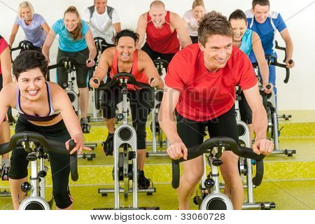 class sport people exercise at gym enjoy workout