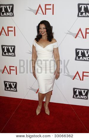 CULVER CITY - JUNE 9: Fran Drescher at the 39th AFI Life Achievement Award Honoring Morgan Freeman held at Sony Pictures Studios  in Culver City, California on June 9, 2011.