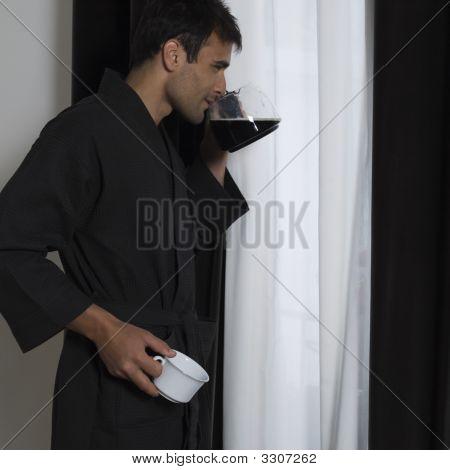 Handsome Man In A Bathrobe