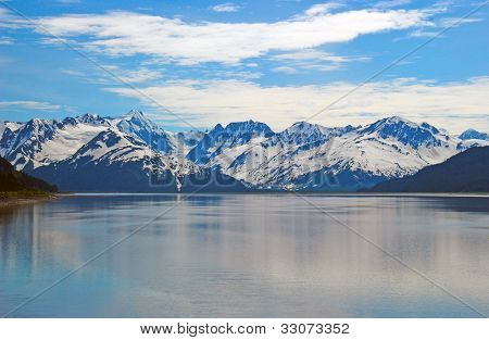 Snowy Mountains On A Summer Day