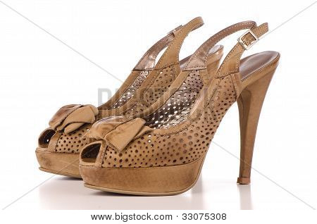 Brown High Heel Women Shoes